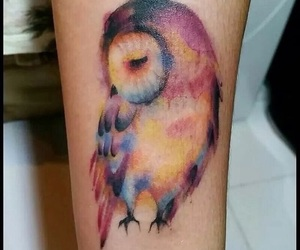 tattoo, owl, and colors image