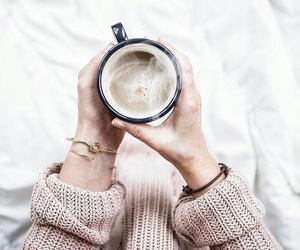 coffee, sweater, and white image