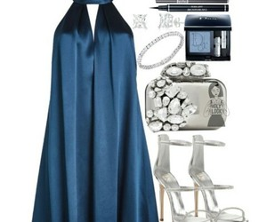 accessories, blue, and dress image