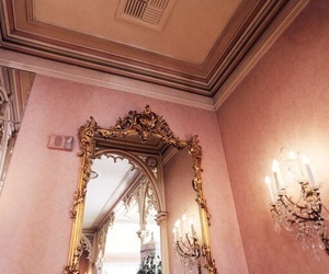 pink, mirror, and rose gold image