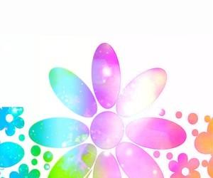 art, petals, and rainbow colors image