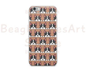 boston terrier, etsy, and case for iphone image