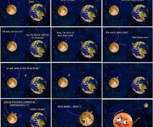 earth, memes, and moon image