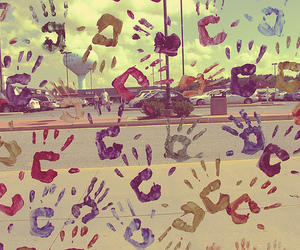 colors, hand, and hand prints image