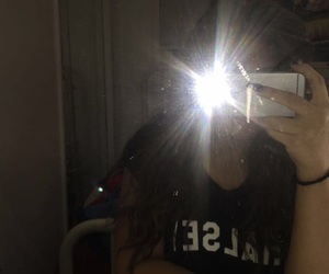 aesthetic, black, and flash image