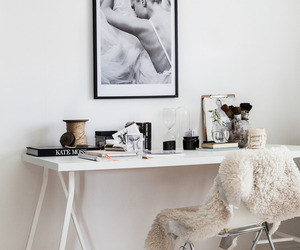 desk and white image