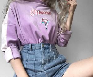 fashion, purple, and girl image