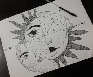 cold, drawing, and half image