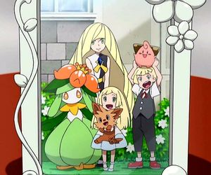 pokemon, lillie, and sun and moon image