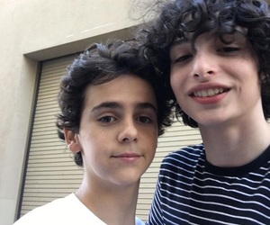 finn wolfhard, it, and jack grazer image