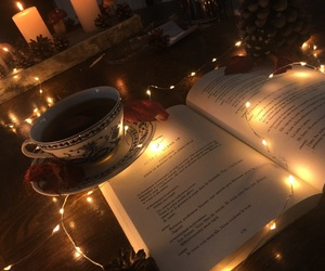 cup, light, and book image