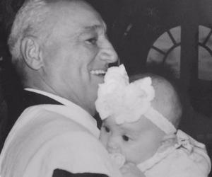 baby, grandfather, and ariana grande image