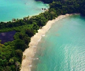 beach, national park, and costa rica image