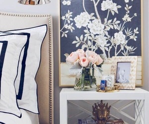 bedroom, beautiful, and flowers image