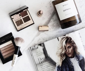 makeup, cosmetics, and magazine image