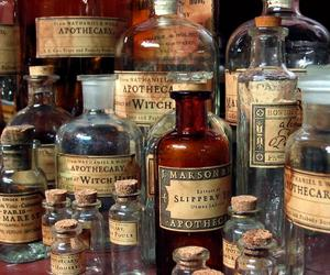 bottles, witch, and magic image