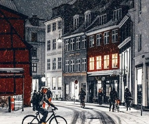 snow, christmas, and copenhagen image