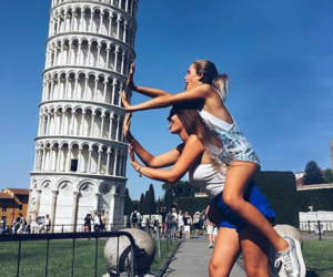 friends, italy, and travel image