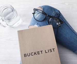 glasses, jeans, and book image