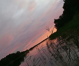 sunset, water, and osean image