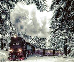 germany, train, and winter image