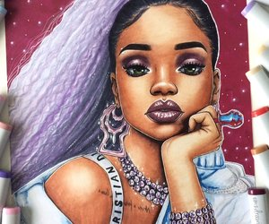 rihanna, art, and drawing image