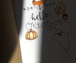 bullet, journal, and october image