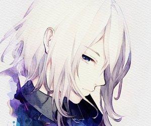 anime, boy, and white image