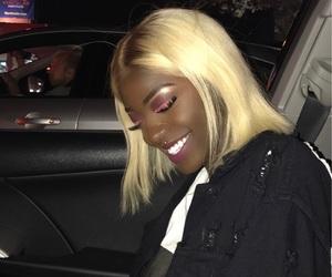 beautiful, black girl, and blonde hair image