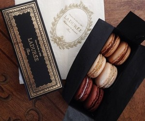 food, laduree, and macarons image