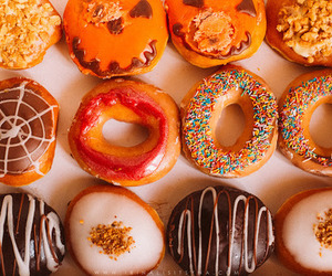 donuts, Halloween, and love image