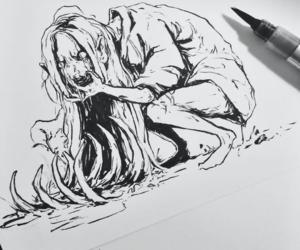 art, creepy, and demon image
