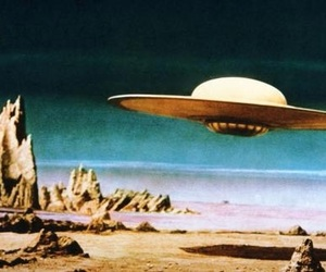 space, ufo, and alien image