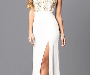 clothes, white, and promgirl image