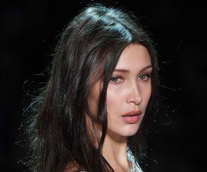 model, bella hadid, and make up image