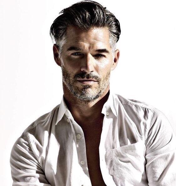 gray hair model men image
