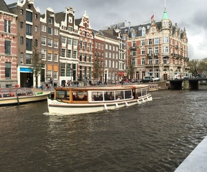 amsterdam, boat, and house image