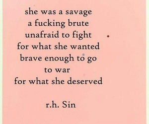 quotes, savage, and brave image