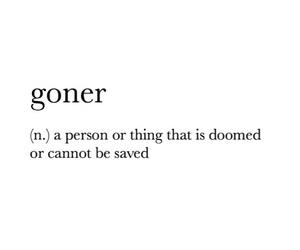 definition, Lyrics, and goner image
