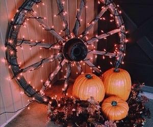 autumn, Halloween, and lights image