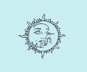 blue, moon, and sun image