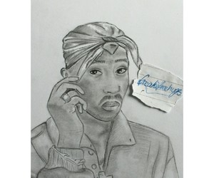 2pac, art, and artist image