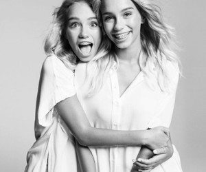 sisters, beautiful, and twins image