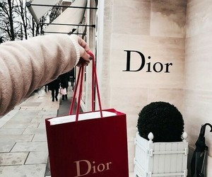 dior, red, and shopping image