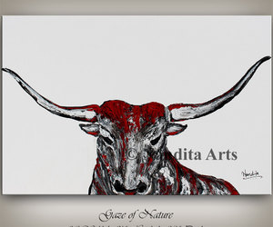 Abstract Painting, animal art, and large wall art image