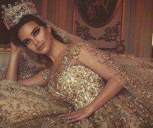fashion, gold, and wedding image