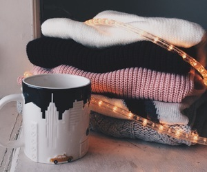 coffee, morning, and sweater weather image