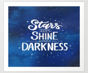 inspirational art, motivational art, and stars quotes image