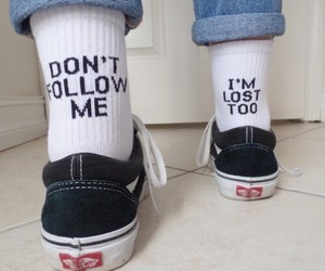 vans, lost, and socks image
