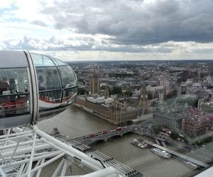 london, london eye, and sky image